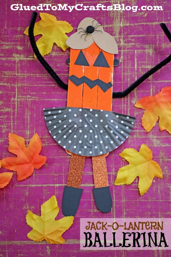 Jack-O-Lantern Pumpkin Ballerinas - Kid Craft