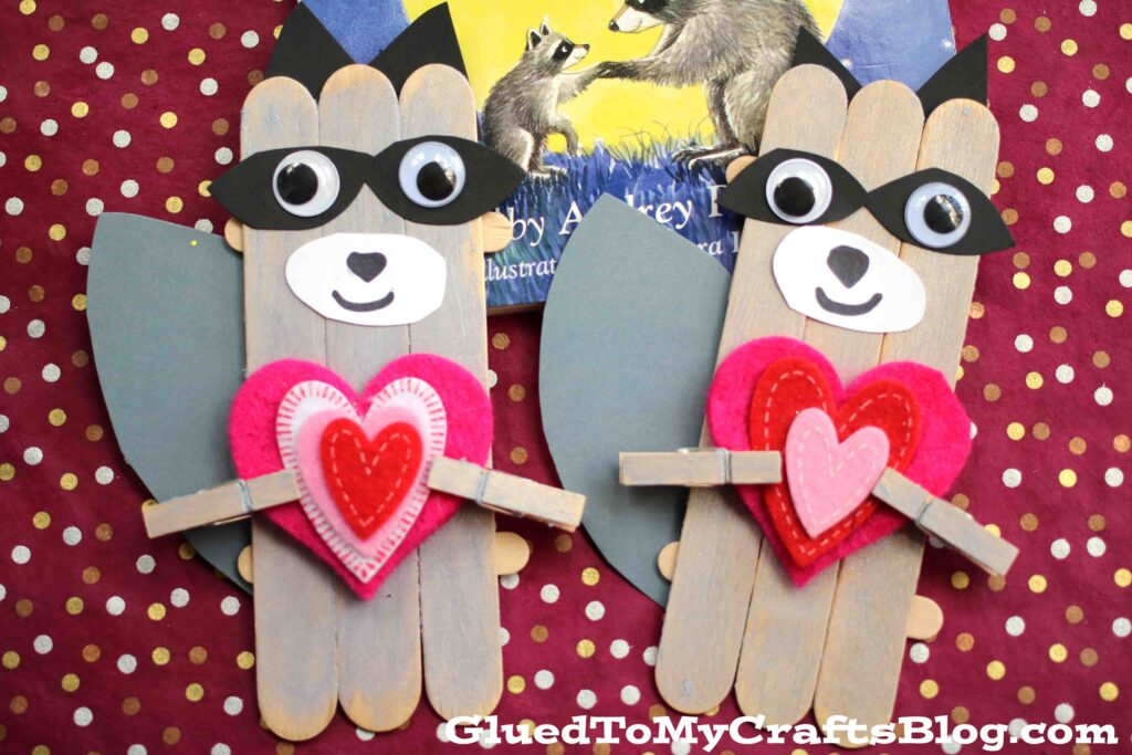 Popsicle Stick Raccoon Art Project