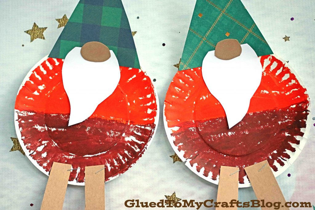 Paper Plate Fall Gnome - Kid Craft