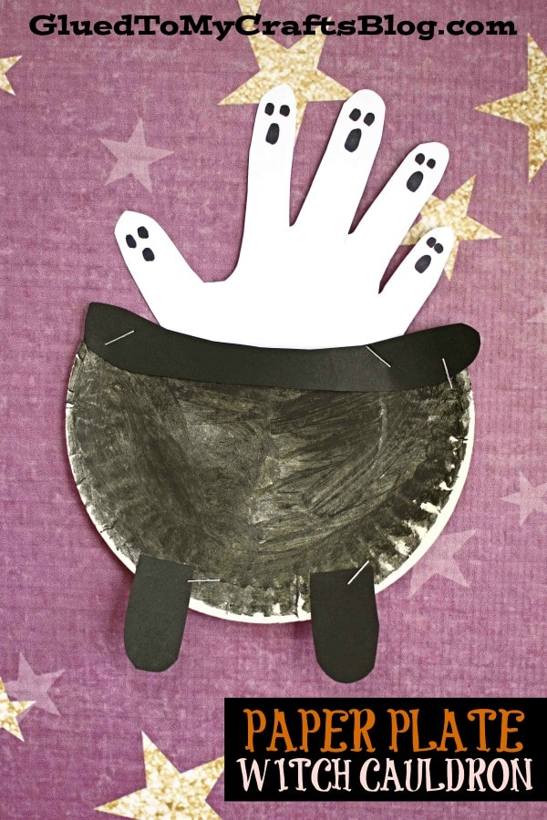 Paper Plate Witch Cauldron - Kid Craft