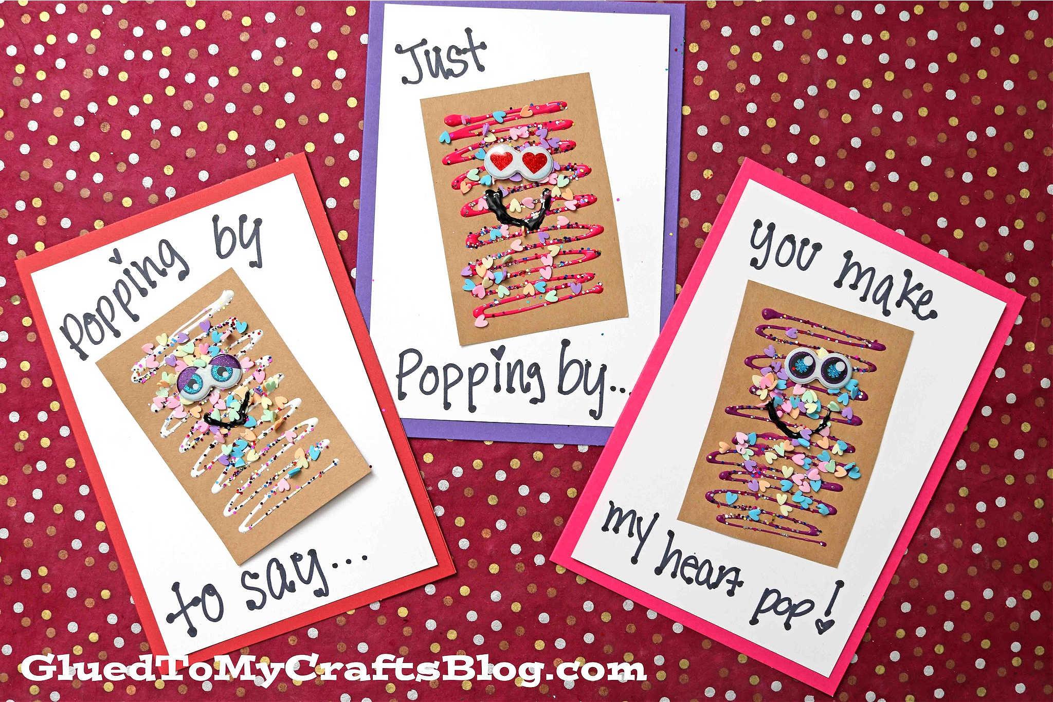 Super FUN Paper Pop-Tart Card Craft For Kids To Make