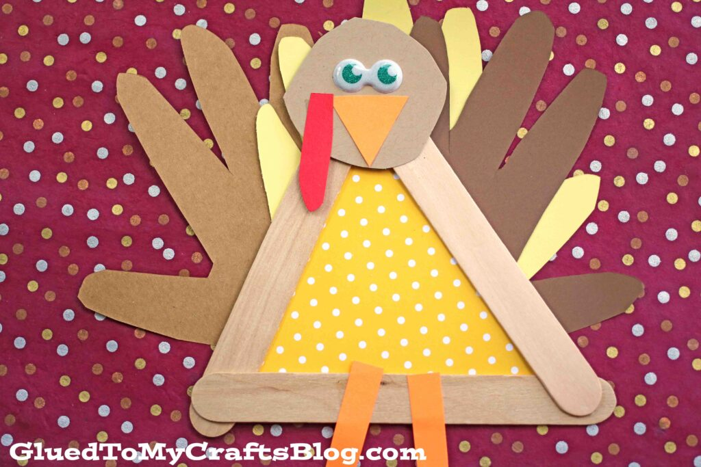 Popsicle Stick Turkey Friend - Kid Craft