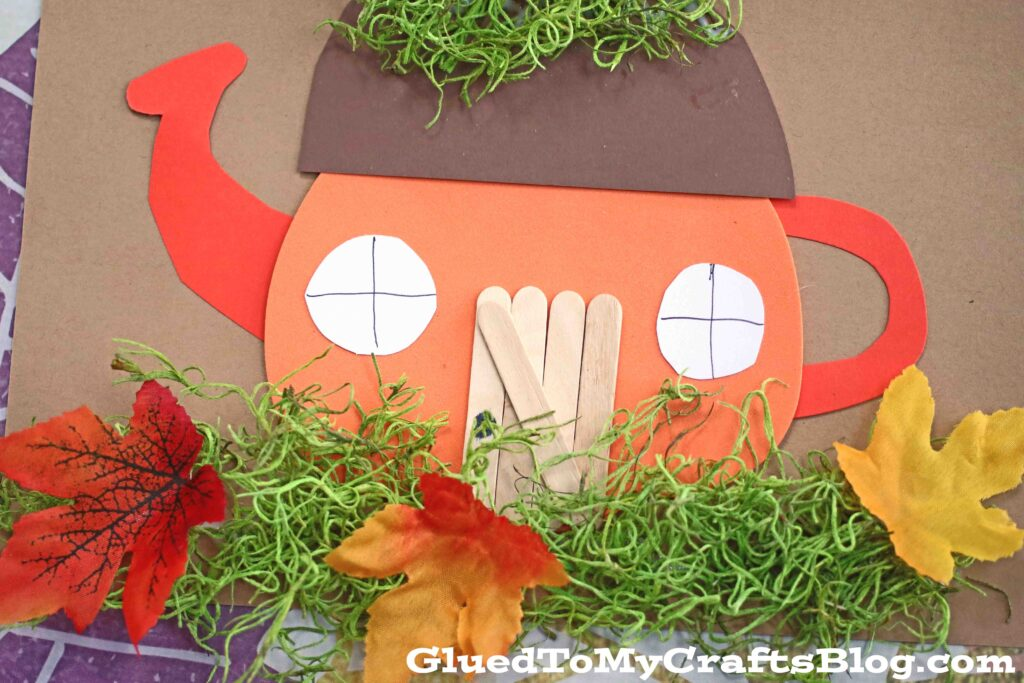 Pumpkin Teacup House - Kid Craft