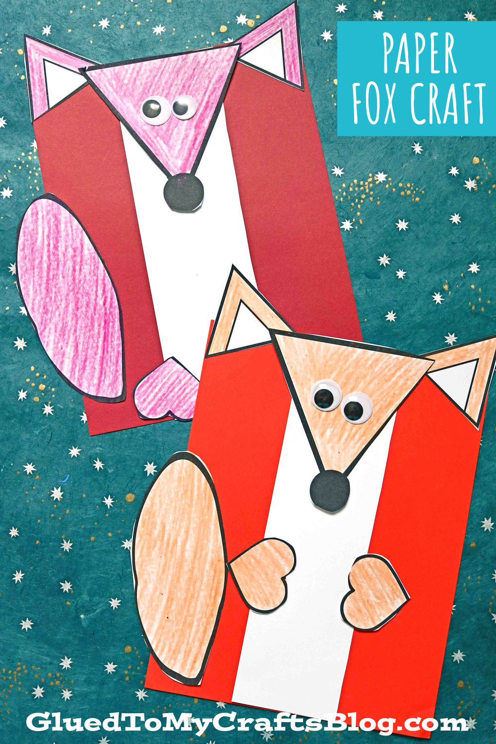 Easy Paper Fox Craft Idea For Kids - Free Printable Included!