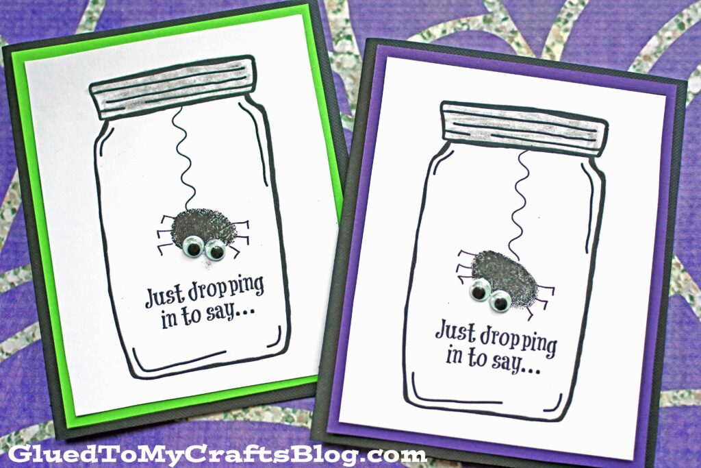 Halloween Spider Mason Jar Card