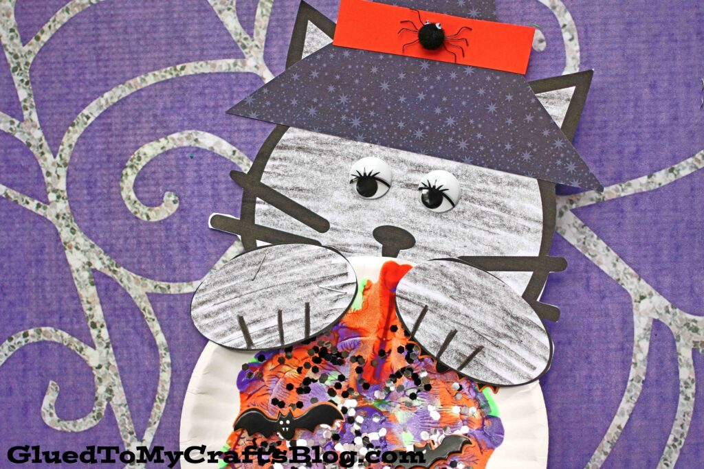 Black Cat and Magic Ball - Halloween Kid Craft