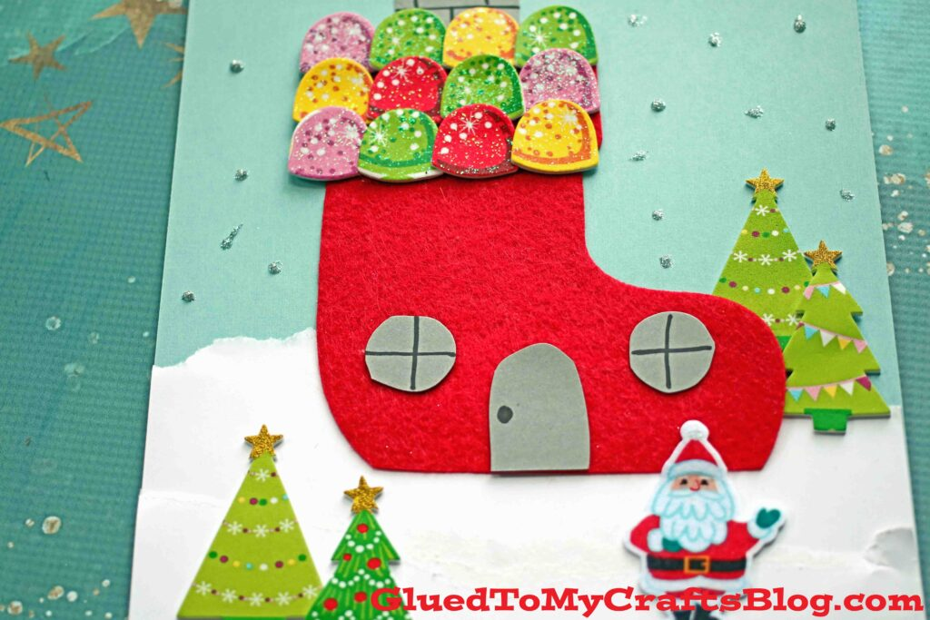 Christmas Stocking House - Kid Craft