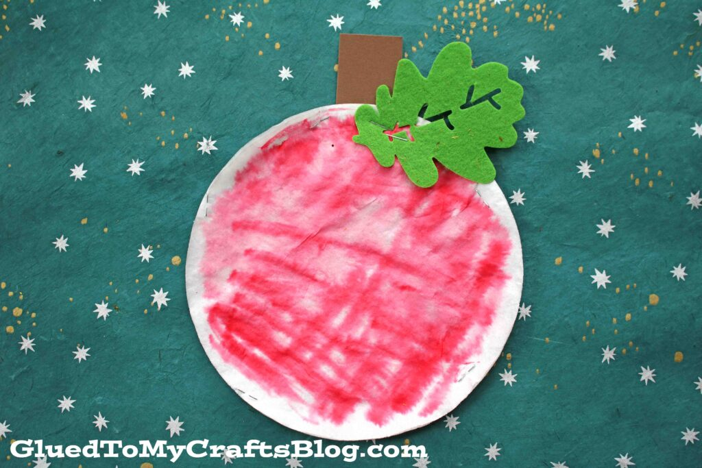Coffee Filter Apple - Fall Kid Craft
