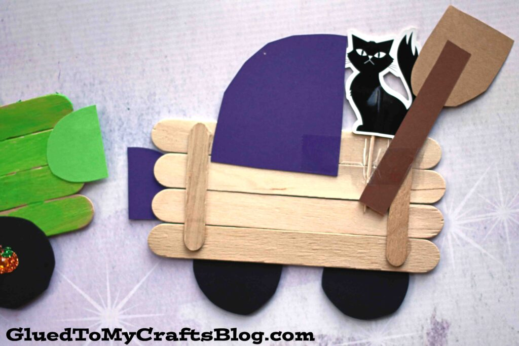 Craft Stick Witch Truck - Kid Craft