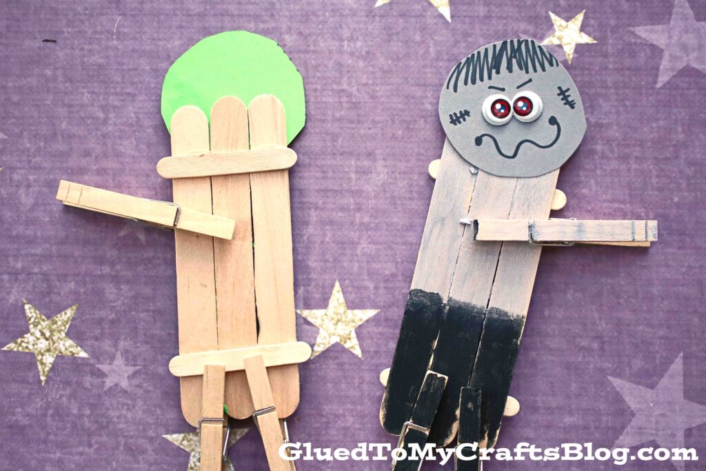 Popsicle Stick Zombie Friend - Kid Craft