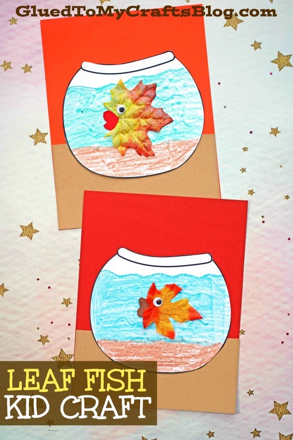 Leaf Fish In Paper Fishbowl - Kid Craft