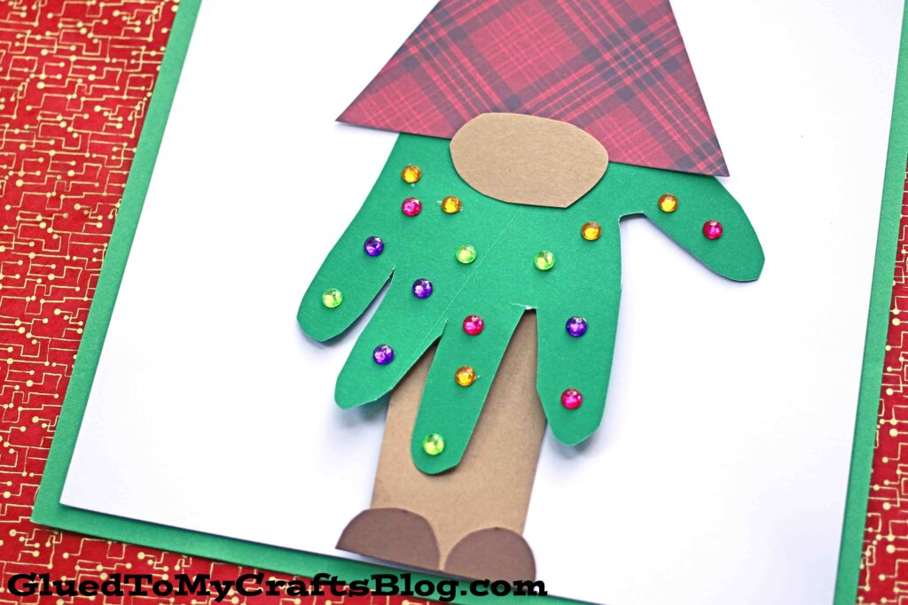 Handprint Christmas Tree Gnome - Kid Craft