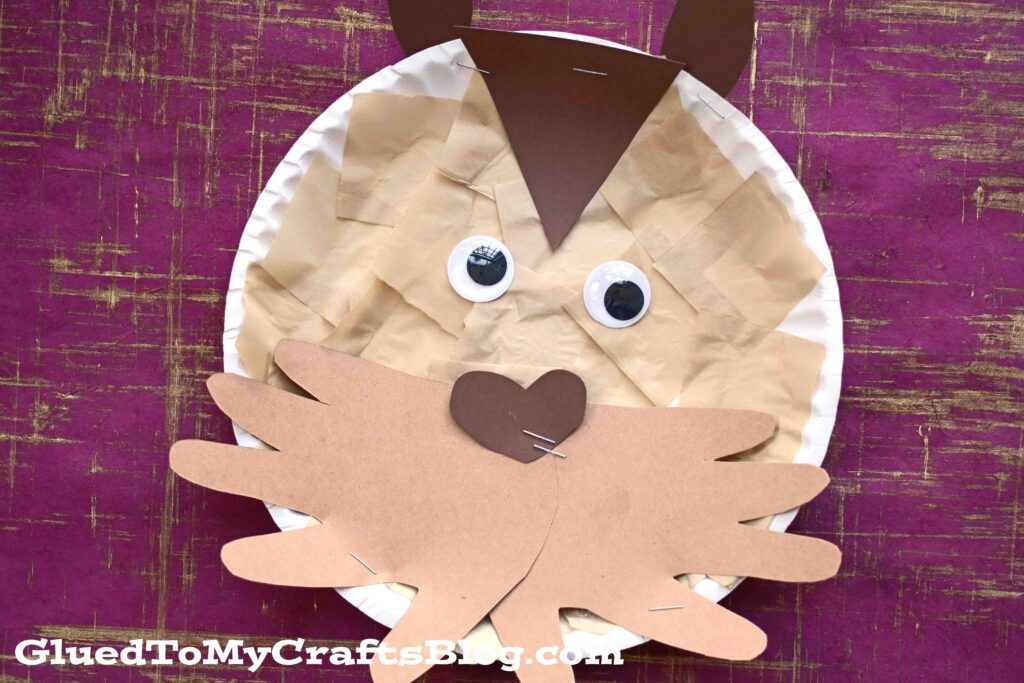 Paper Plate Groundhog - Kid Craft