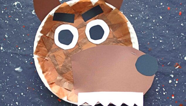 Paper Plate Werewolf - Kid Craft