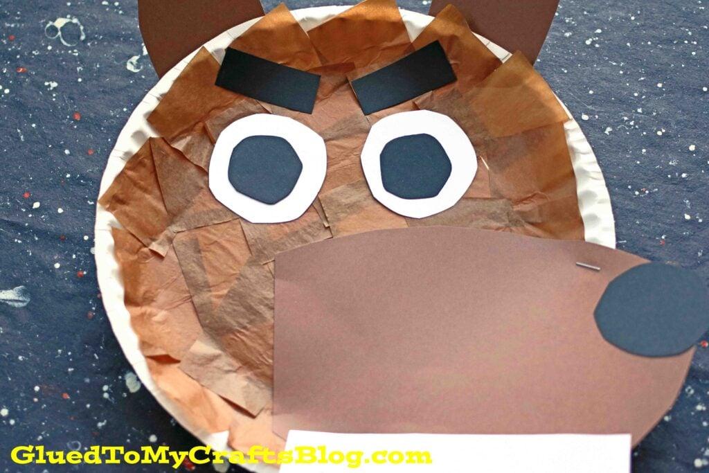 Paper Plate Werewolf - Kid Craft