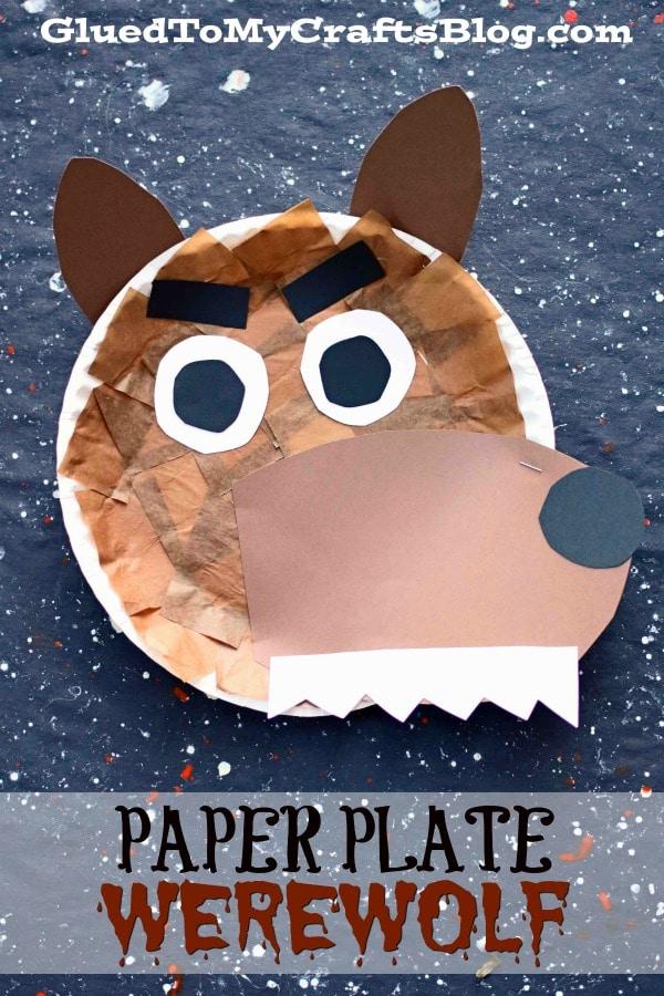 Paper Plate Werewolf - Halloween Craft Idea For Kids