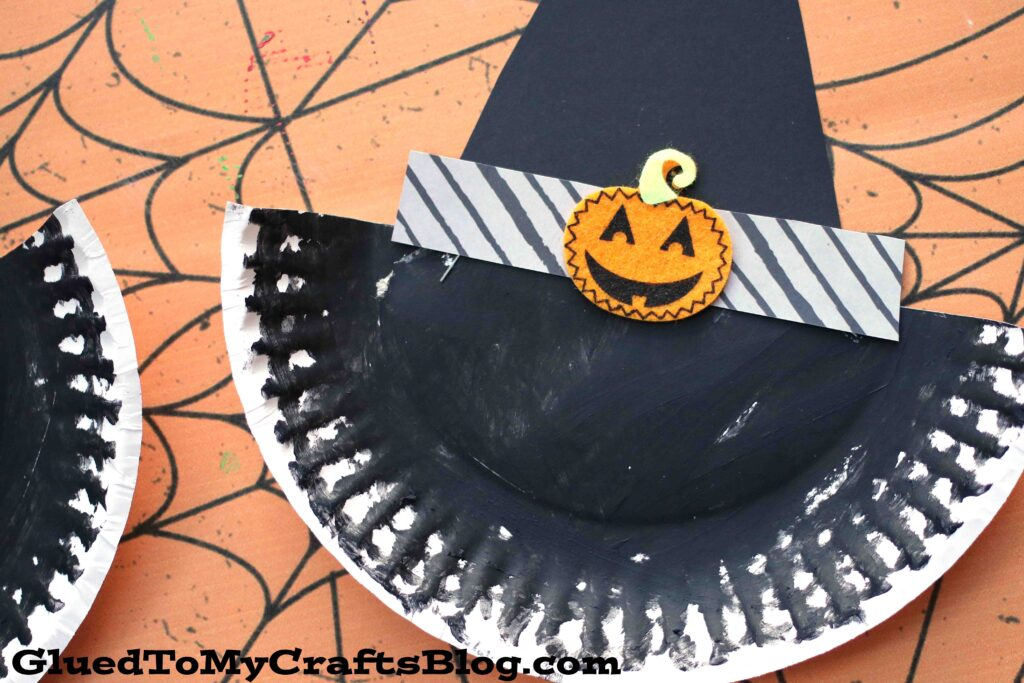Paper Plate Witch Hat - Kid Craft