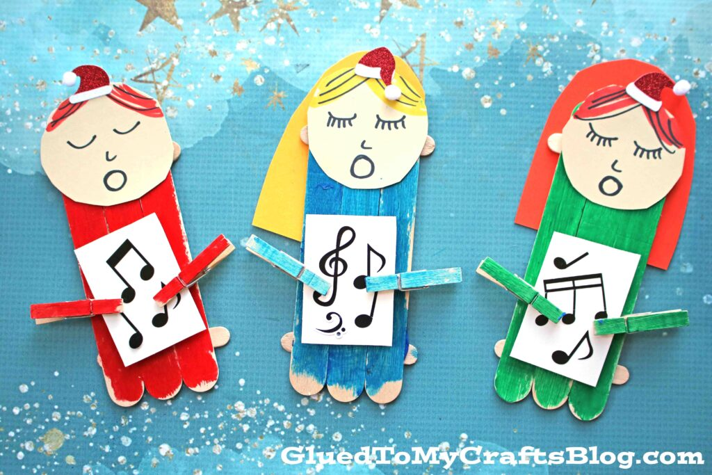 Popsicle Stick Christmas Carolers - Kid Craft