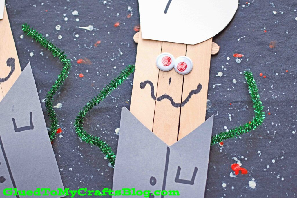 Popsicle Stick Mad Scientist Puppet - Kid Craft