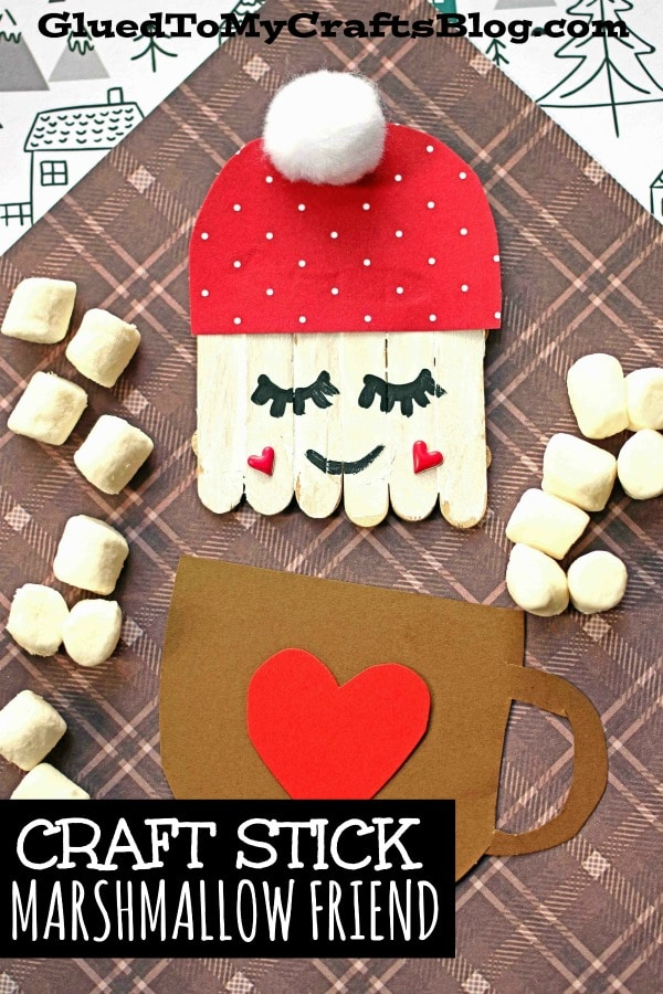 Mini Craft Stick Marshmallow Friends - Kid Craft