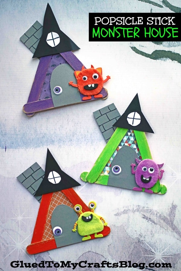 Popsicle Stick Monster House - Kid Craft