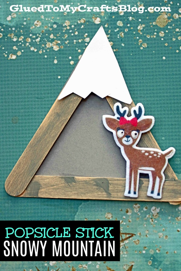 Popsicle Stick Mountain - Kid Craft Idea