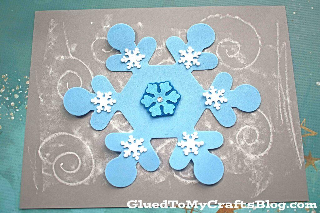 Chalk Art Snowy Day - Kid Craft