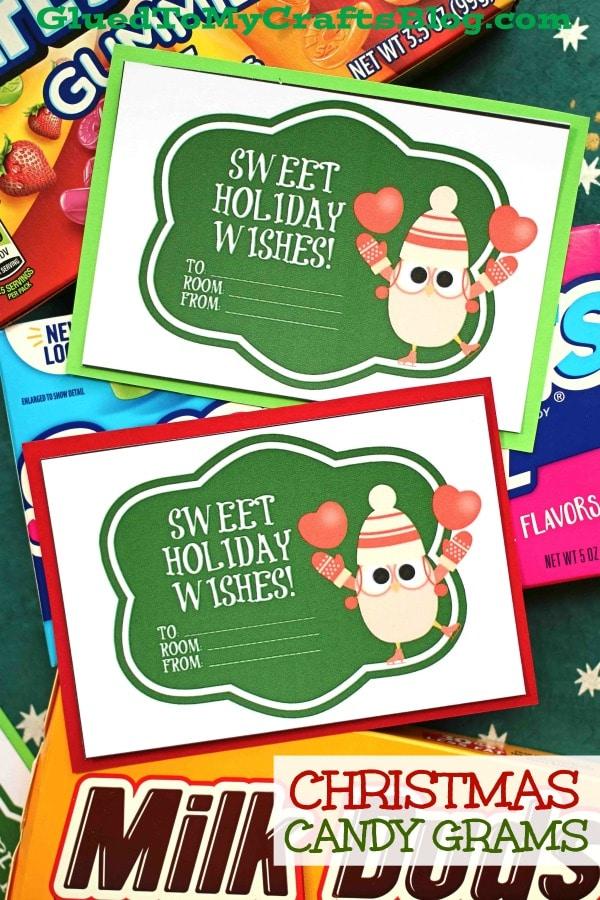 Christmas Candy Grams - Free Gift Tag Printable