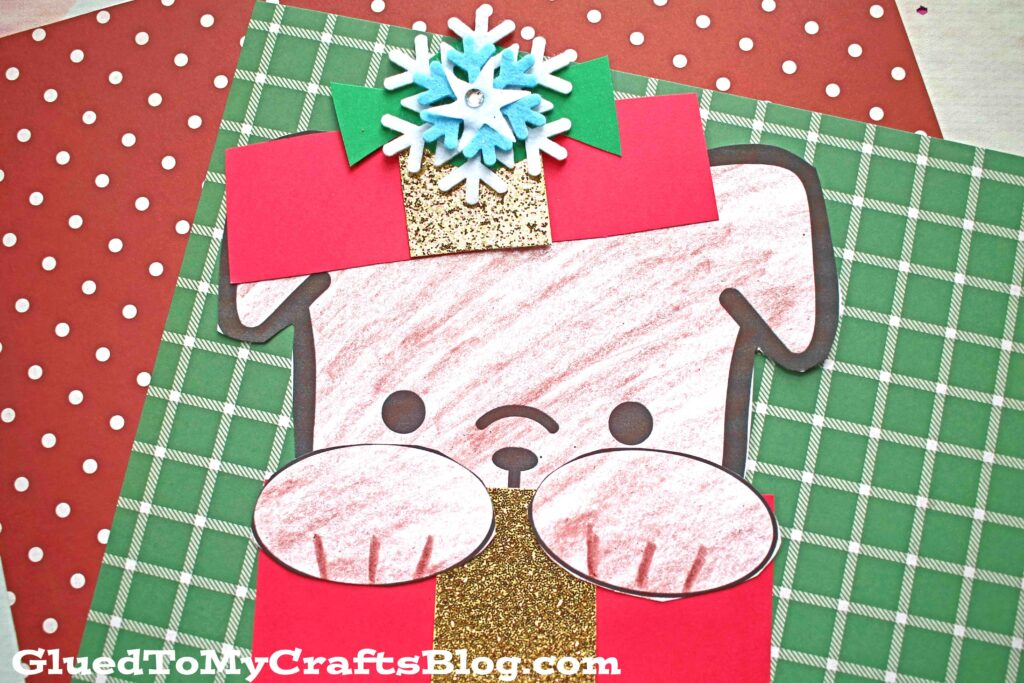 Peeking Christmas Puppy - Kid Craft