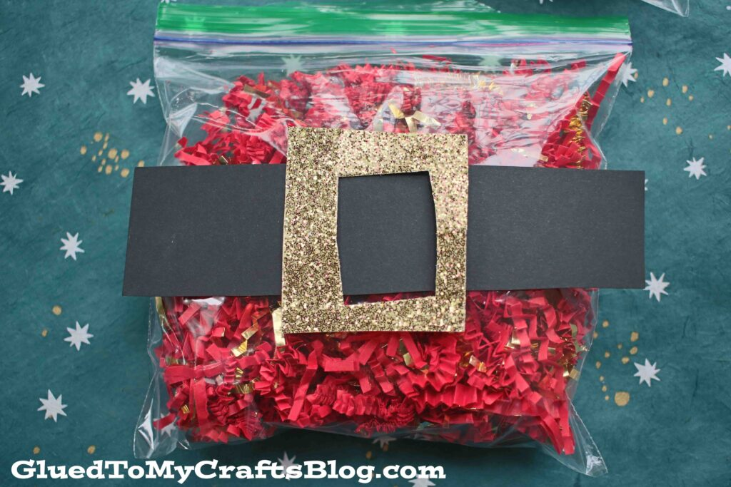 Crinkle Paper Santa Belly - Kid Craft
