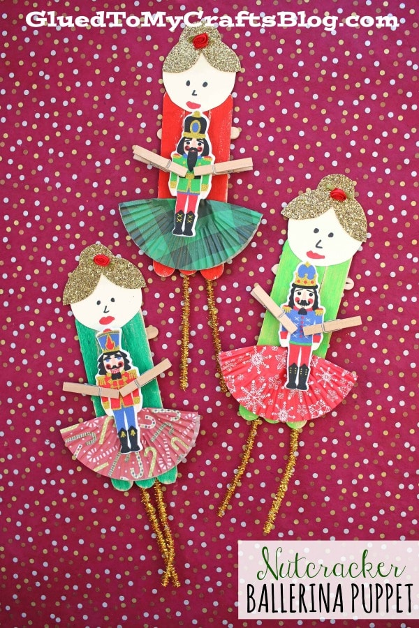 Nutcracker Ballerina Puppet - Christmas Craft For Kids