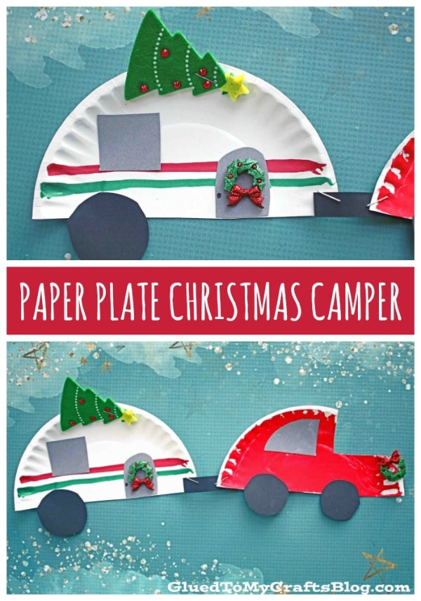 Paper Plate Camper and Christmas Car - Kid Craft