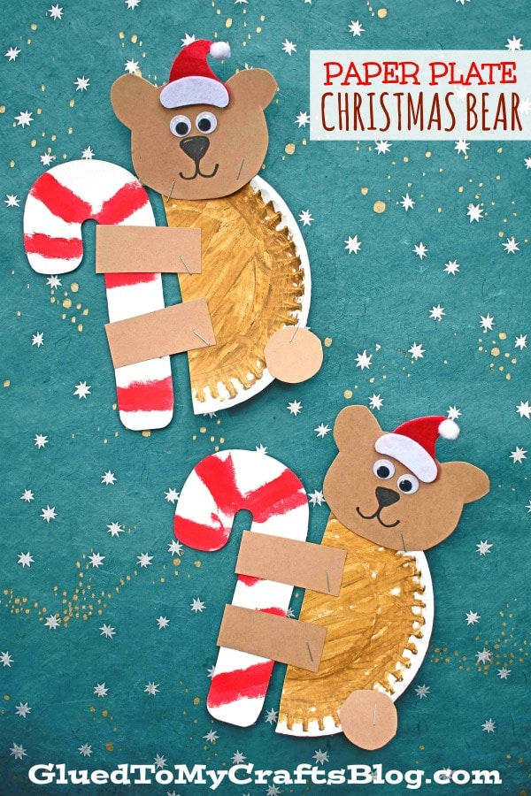 Paper Plate Christmas Bear - Kid Craft