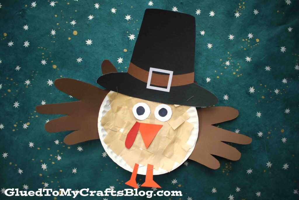 Paper Plate Pilgrim Turkey - Kid Craft
