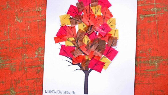 Tissue Paper Fall Tree - Kid Craft