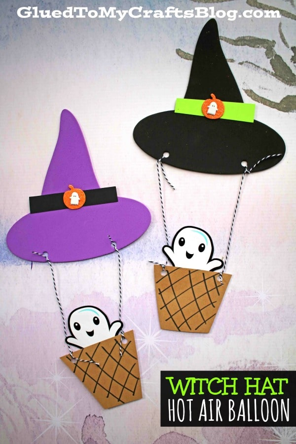 Witch Hat Hot Air Balloon Craft Idea For Kids To Make
