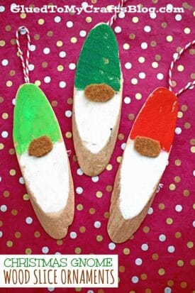 DIY Wood Slice Christmas Gnome Craft