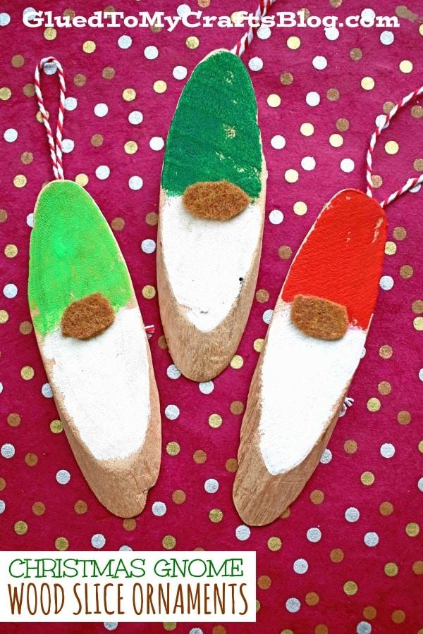 DIY Wood Slice Christmas Gnome Craft For The Holidays
