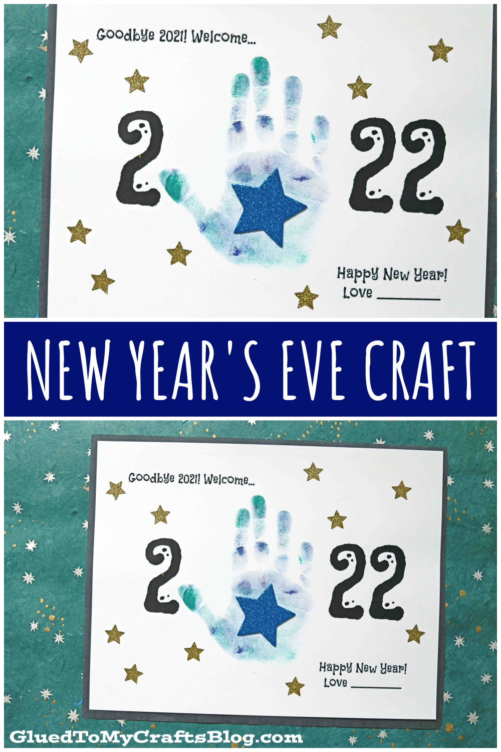 Handprint Keepsake Idea For New Year's Eve - UPDATED FOR 2022