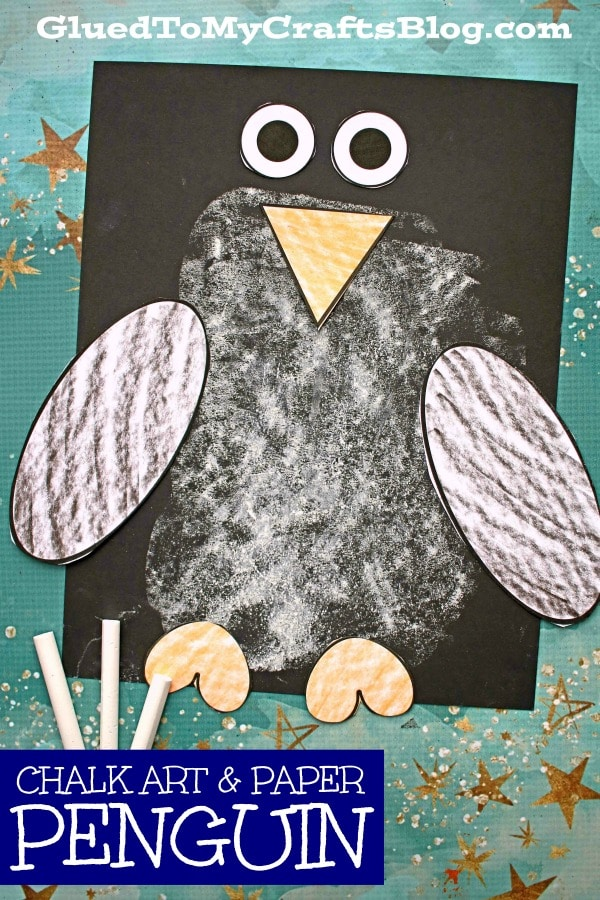 Paper & Chalk Penguin Craft For Kids