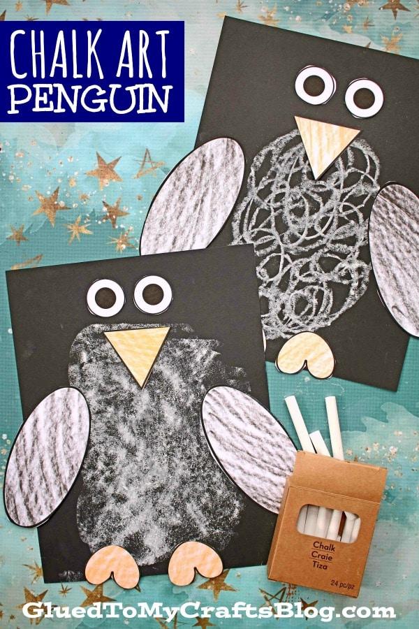 Paper & Chalk Penguin Craft For Kids