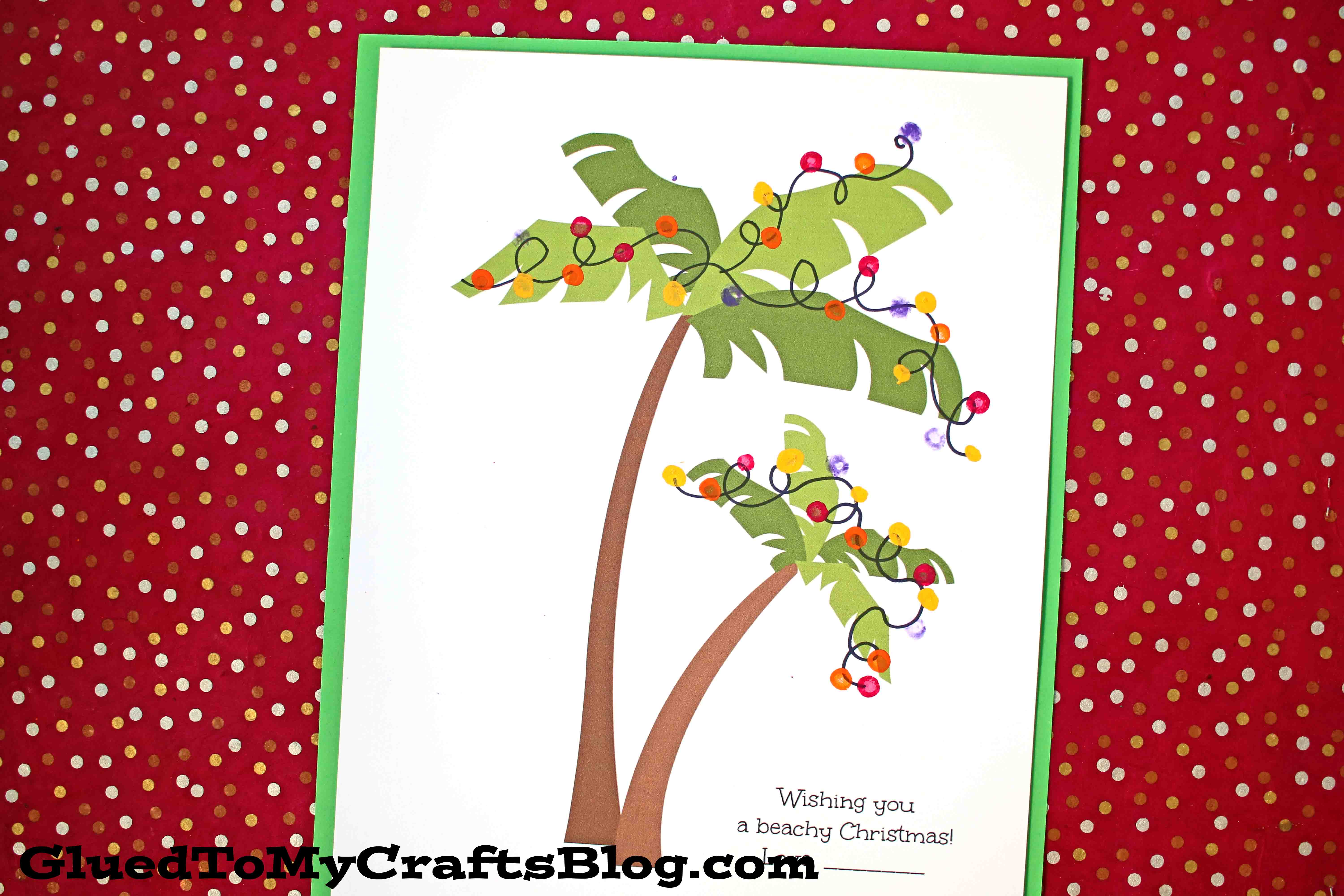 Q-Tip Painted Christmas Palm Trees - Kid Craft