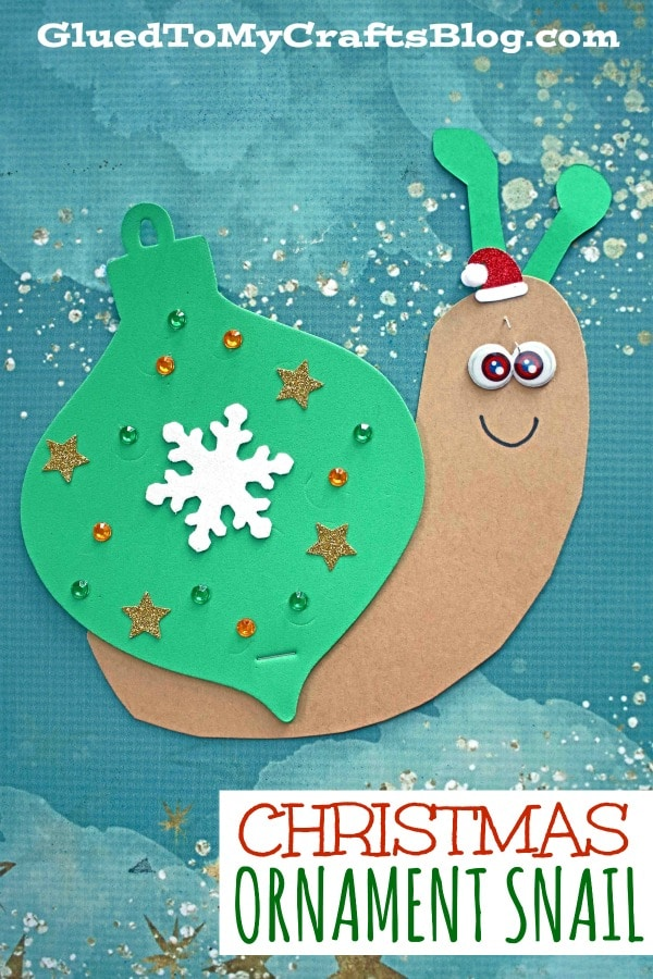 Craft Foam Christmas Ornament Snail - Kid Craft