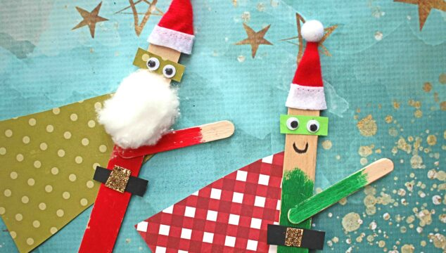 Christmas Superhero Puppets - Kid Craft