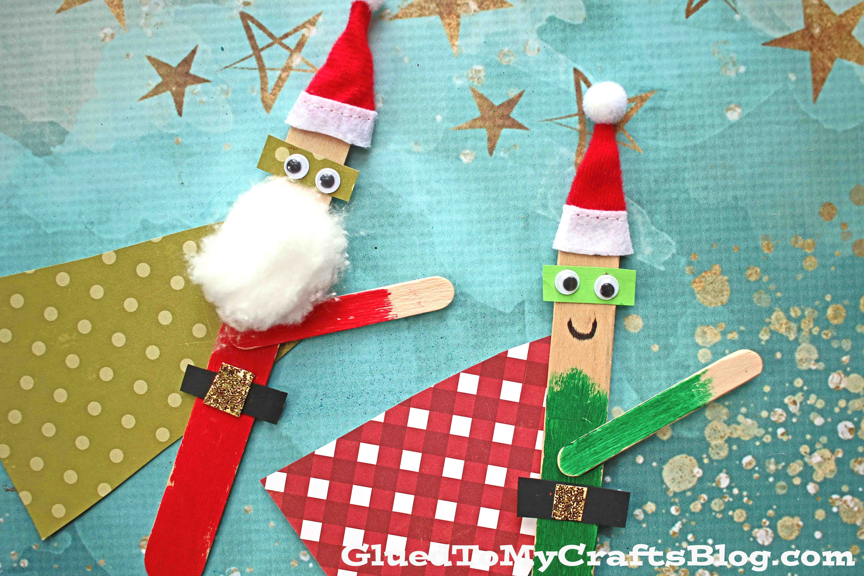 Christmas Superhero Puppets - Kid Craft