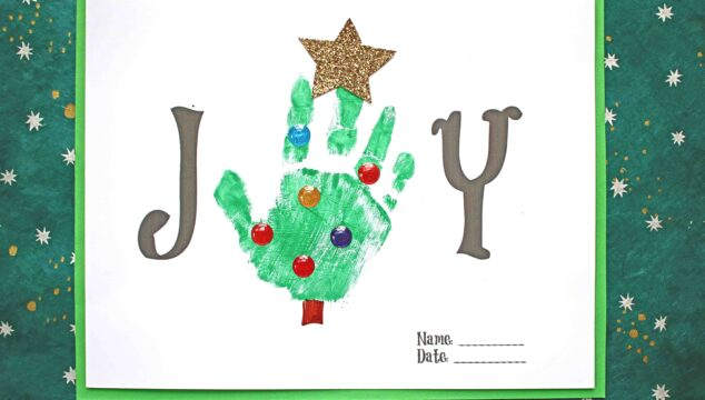 Handprint Joy Keepsake Craft For The Holidays