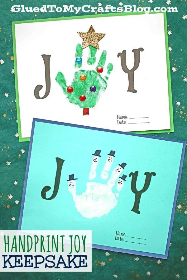 Handprint Joy Keepsake Craft For The Holidays