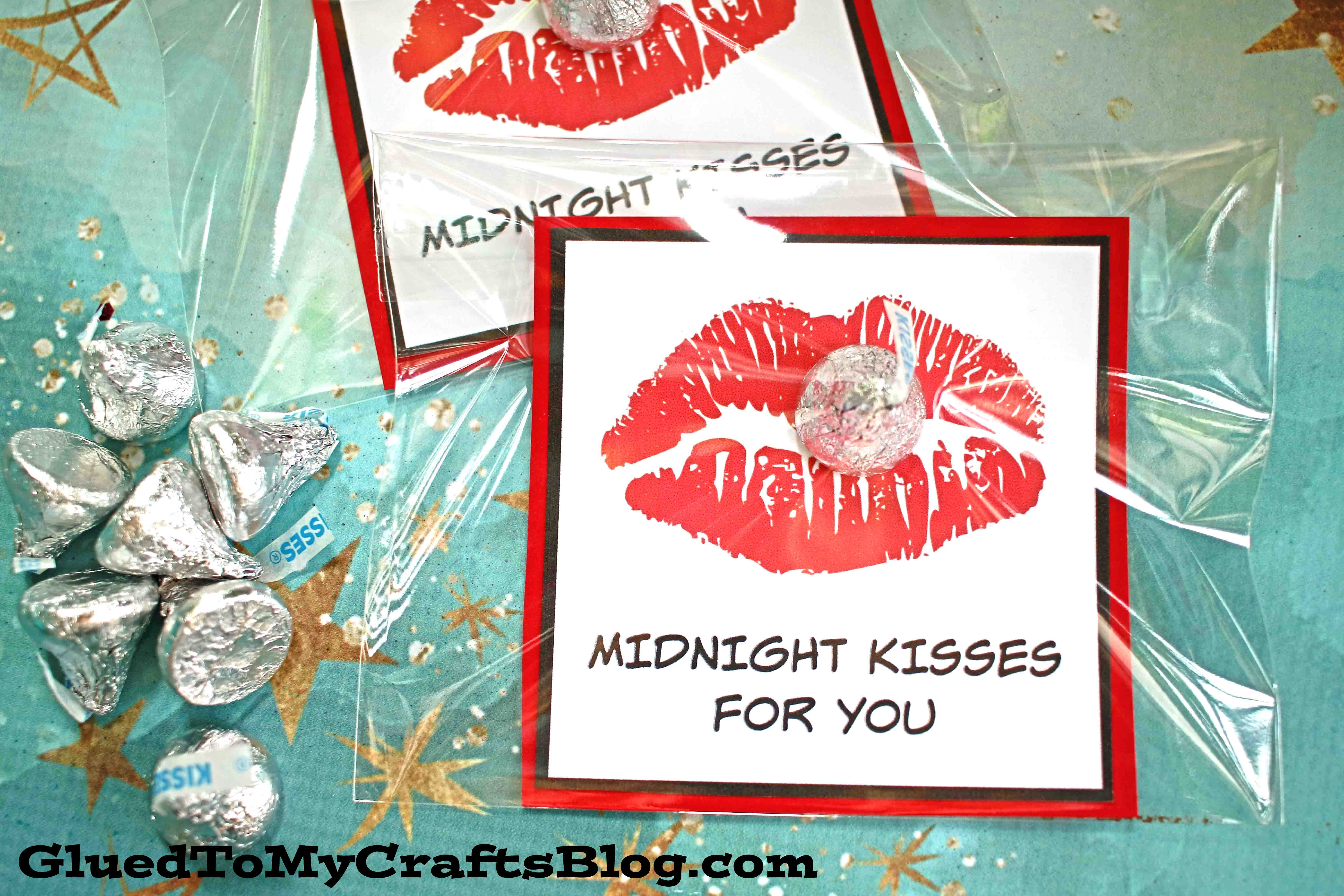 Midnight Kisses For You - Chocolate Party Favors For New Year's Eve