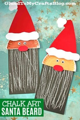 Paper & Chalk Art Santa Craft For Kids To Make