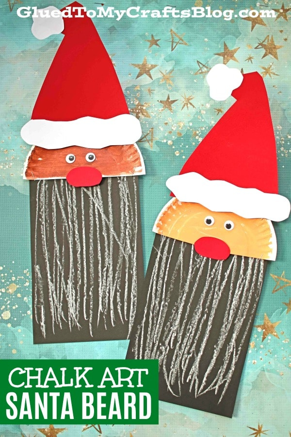 Paper & Chalk Art Santa Craft For Kids To Make
